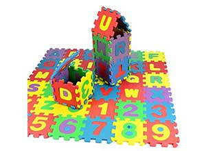 Kids Foam Puzzle Play Mat Shapes Colors or Numbers Alphabets