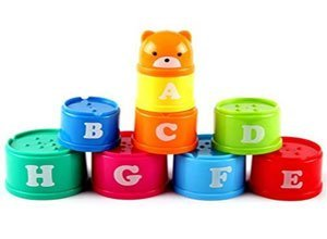 Stacking & Nesting Cups with Numbers and ABC Characters