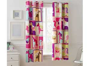 Mainstays Pink Girls Bedroom Single Curtain Pane