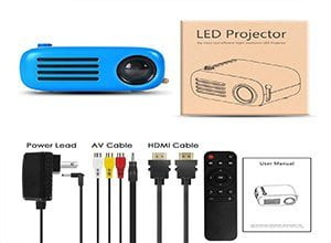 Mini Power Bank Supported Projector