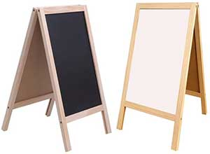 Wooden Frame Blackboard Whiteboard Stand