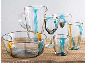 Satori Stripe Recycled Glassware Collection