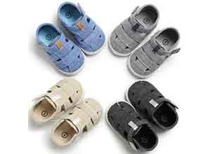 Newborn Baby Boys Fashion Summer Soft Crib Shoes
