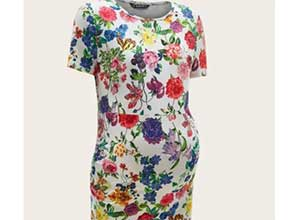 SHEIN Maternity Floral Print Dress