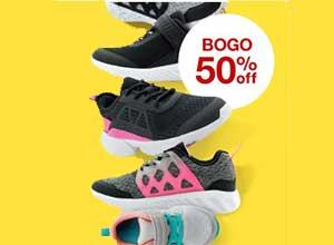 BOGO 50% off kids shoes