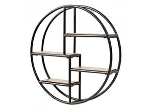 Circular Wall-Mounted Storage Shelf