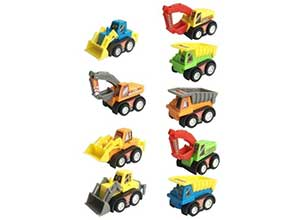 Construction Vehicles Fun Pull Back Car Toys Set