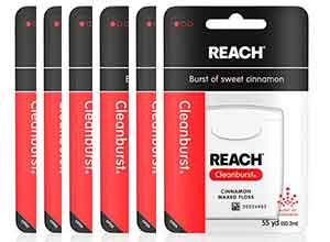 Reach Cleanburst Waxed Dental Floss