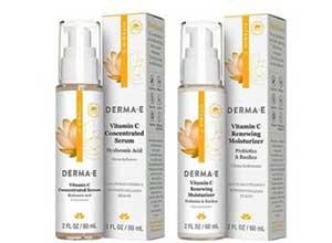 Free DERMA E vitamin c serum and moisturizer