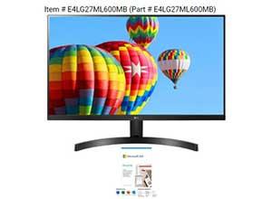 LG 27 inch Full HD Monitor+ Microsoft 365
