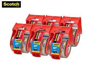 Scotch Heavy Duty Shipping Packaging Tape 6 Rolls