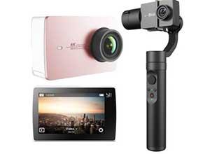 YI 4K Action Camera Rose Gold and kit