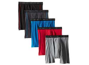 Hanes Mens 5-Pack Sports Boxer Brief