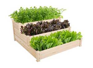 Yaheetech 3 Tier Wooden Garden Bed Planter Box Kit