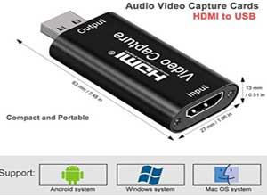 Audio Video Capture Cards HDMI to USB