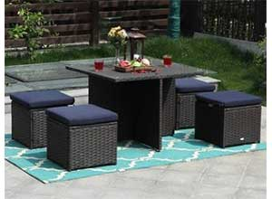 Outdoor Furniture Sofa Set with Cushions