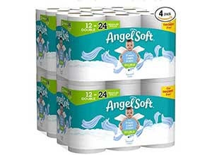 Angel Soft Toilet Paper 4*12 Count of 214 Sheets