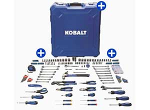 Kobalt 200-Piece Household Tool Set with Case