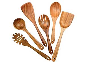 Teak Wooden Utensils for Cooking