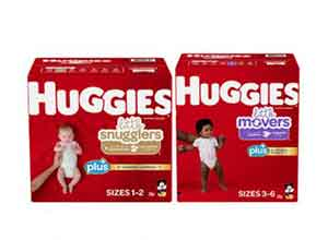 Huggies Plus Diapers Sizes 1 - 6