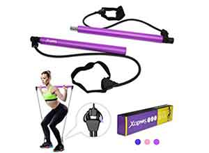 XCLOHAS Pilates Bar Kit with Resistance Band