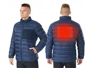 Electric USB Mens Down Heated Jacket