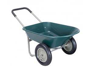 2 Tire Wheelbarrow Garden Utility Cart