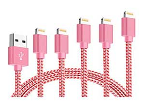 MFi Certified iPhone Charger Cable 5 Pack