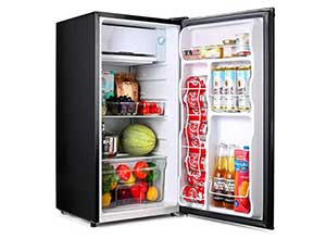 Compact TACKLIFE Mini Fridge with Freezer