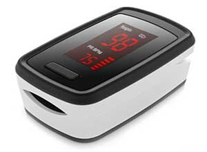 Fingertip Blood Oxygen Pulse Rate Monitor
