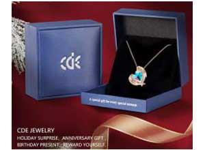 CDE Love Heart Pendant Necklaces for Women