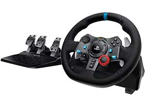 Racing Wheel with Responsive Pedals