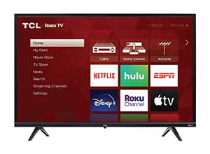 TCL 32inch 3 Series 720p ROKU Smart TV
