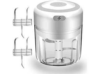 Electric Mini Garlic Chopper Food Processor
