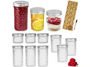 LovoIn Mason Jars Canning Jars with lids