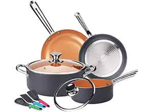 9pcs NonSick Ceramic Coating Cookware Set