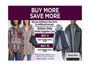 Buy 5 Save $20 | Buy 10 Save $50 At Costco
