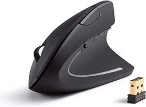 Wireless Vertical Ergonomic Optical Mouse