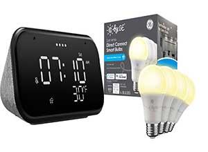 Lenovo Smart Clock with 4 A19 LED Bulbs