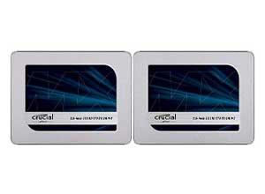 Crucial MX500 500GB +1TB SATA 2.5 Inch SSD