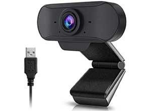 Webcam with Built-in Dual Microphone