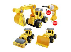 3 in 1 Construction Truck Toys