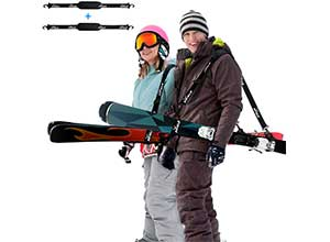 Ski Straps and Pole Carrier 2 Pack