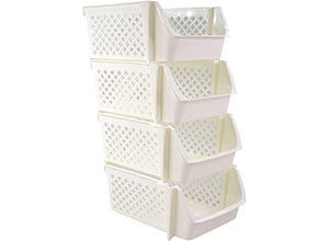 Bee Neat Stackable Storage Baskets