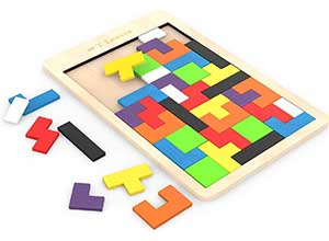 T Leaves Fun Colorful Wooden Puzzles Toys