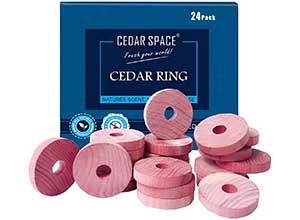 Natural Aromatic Cedar Protection Rings