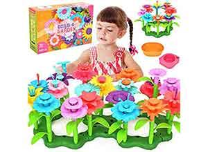 Flower Building Toy Garden Set for Kids