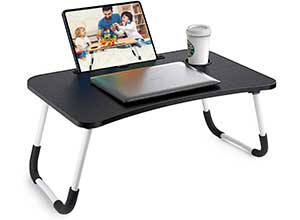 Portable Laptop Bed Tray Table with Foldable Legs