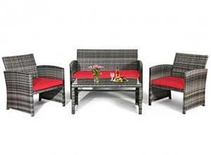 4PCS Patio Rattan Furniture Set