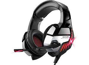 Gaming Headset with Microphone LED Light